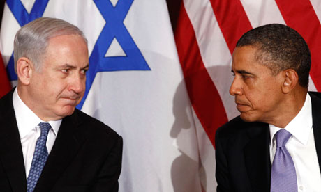 Imagem: The Guardian / Obama & Netanyahu