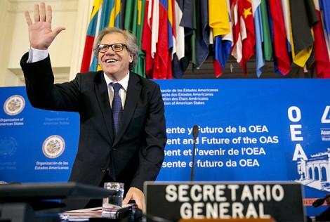 O secretário-geral da OEA, o uruguaio Luis Almagro, durante cerimônia que inaugurou assembleia-geral