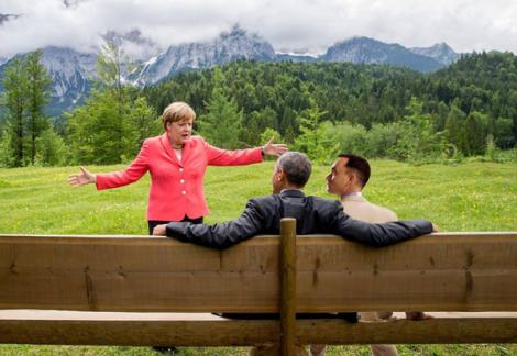 Imagem: Google Images / #MerkelMeme Merkel, Obama e Forrest